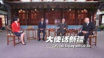 Hablemos sobre Xinjiang: Entrevistas de Liu Xin con tres embajadores en China (PRNewsfoto/CGTN)