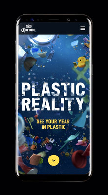 Plastic Reality users get an estimate of their annual plastic footprint after answering some basic questions about their consumption habits. That footprint is then visualized through colorful AR pieces of plastic that splash across the user's physical world like seawater washing ashore.