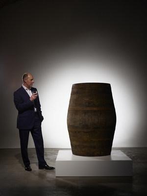 Stephen Rankin, Director of Prestige, Gordon & MacPhail with cask 340 - Generations 80YO from Glenlivet Distillery