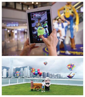 Los clientes pueden capturar los personajes ocultos a través de realidad aumentada (RA) en 5 puestos de control en Harbour City, Hong Kong. (PRNewsfoto/Harbour City Hong Kong)